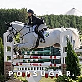 Mary-Kate Olsen went jumping with her horse in Bridgehampton, NY, on Thursday.