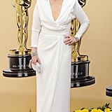 Meryl wore a white gown by Chris March to the 2010 Oscars.