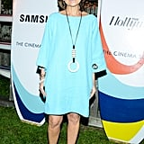 At the Montauk The Hollywood Reporter screening of The Spectacular Now, Lisa Perry brightened things up in an aqua shift.