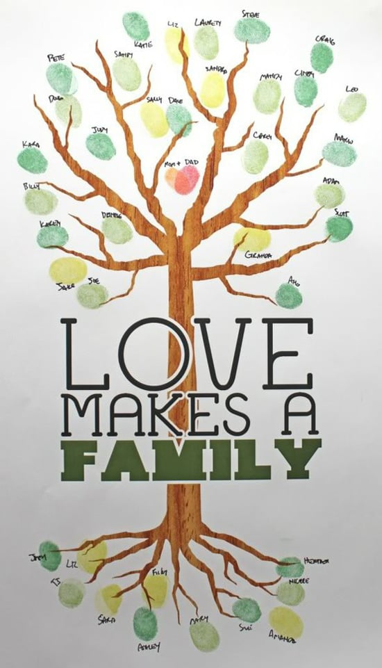 Fingerprinted Family Tree Kid Friendly Crafts Popsugar Family