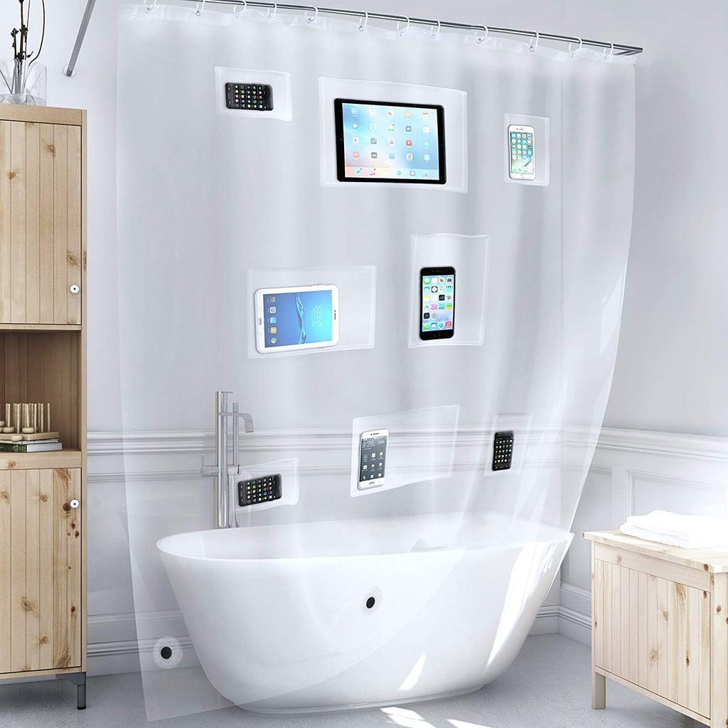 Better Than Bubbles Tech Friendly Clear Shower Curtain