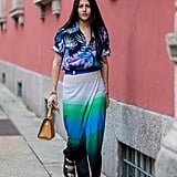 Style a Hawaiian-Print Top With an Ombré Skirt
