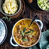 Cream Pork Casserole With Apples, Cider, and Chestnuts
