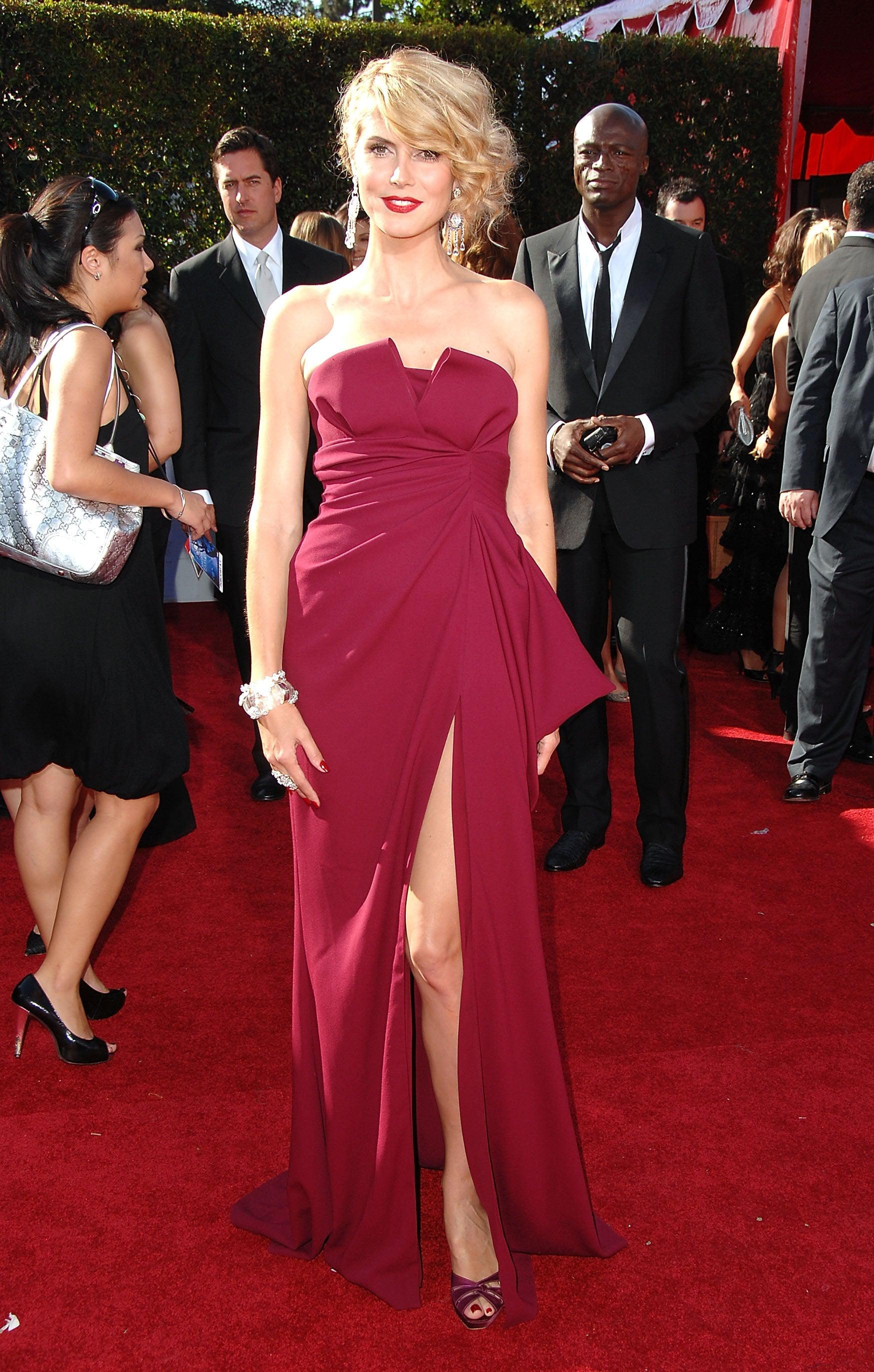 Heidi Klum in Christian Dior at the 2007 Emmy Awards