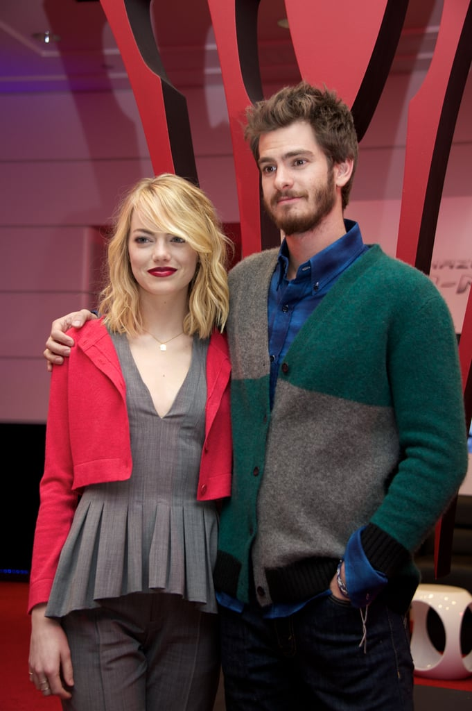 Emma Stone at a Culver City Press Event For The Amazing Spider-Man 2 in 2014
