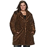 Sebby Collection Plus Size Heavyweight Faux-Fur Coat