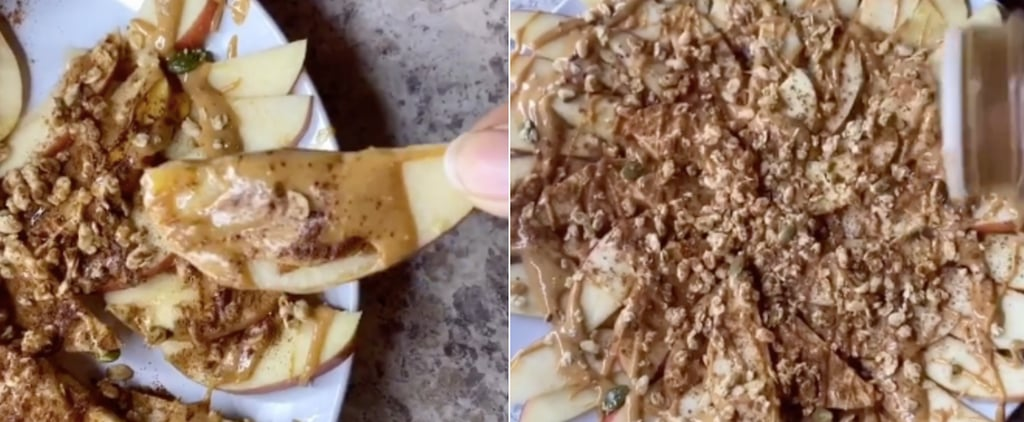 Healthy Apple and Peanut Butter Nachos Snack
