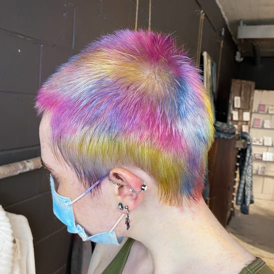 Kitchen Sponge Multi-Coloured Hair Dye Technique