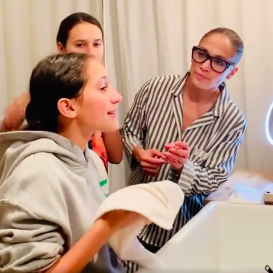 Jennifer Lopez and Alex Rodriguez's Daughters Try JLo Beauty