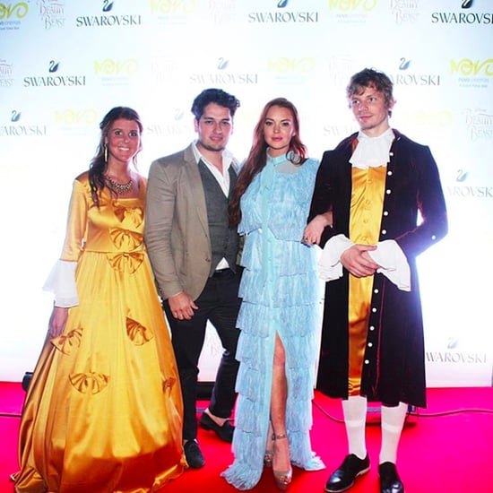 Lindsay Lohan Attends Dubai Beauty and the Beast Premiere