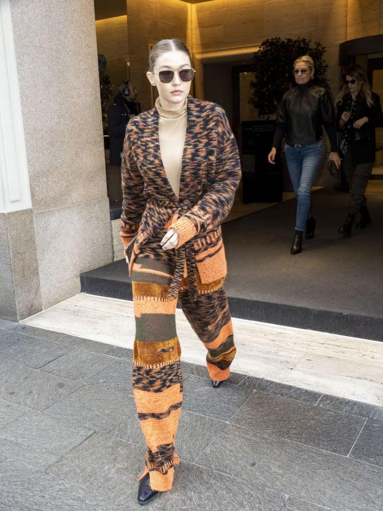 Gigi Hadid at Milan Fashion Week 2020