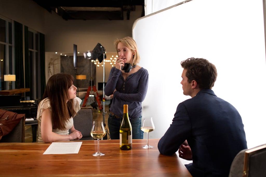 Director Sam Taylor-Wood gives Johnson and Dornan direction.
