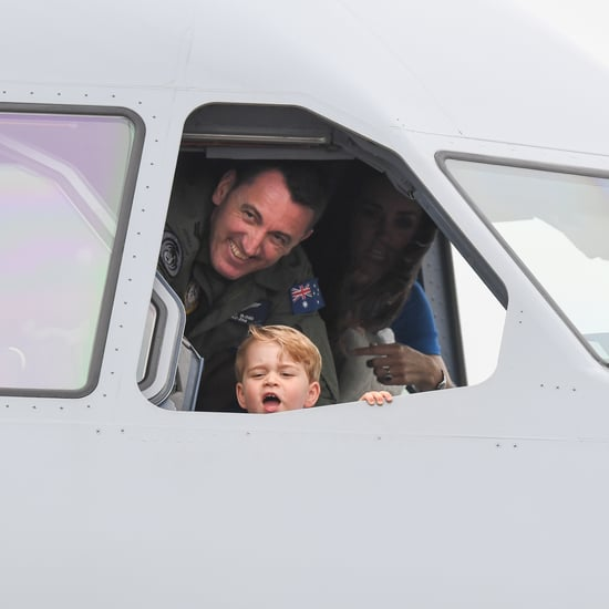 Prince George Pretends to Fly Plane at Air Show
