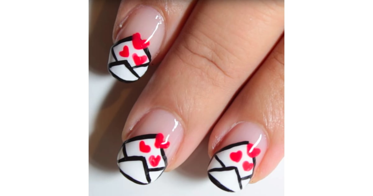 love letter nail art tutorial popsugar beauty