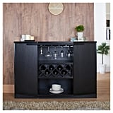 Rosio Transitional Crisscross Wine Storage Dining Buffet