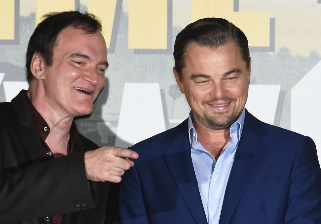 Quentin Tarantino and Leonardo DiCaprio at the Tokyo premiere of Once Upon a Time in Hollywood.