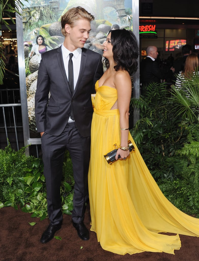 The pair shared a sweet look of love at the LA premiere of Journey 2: The Mysterious Island in February 2012.