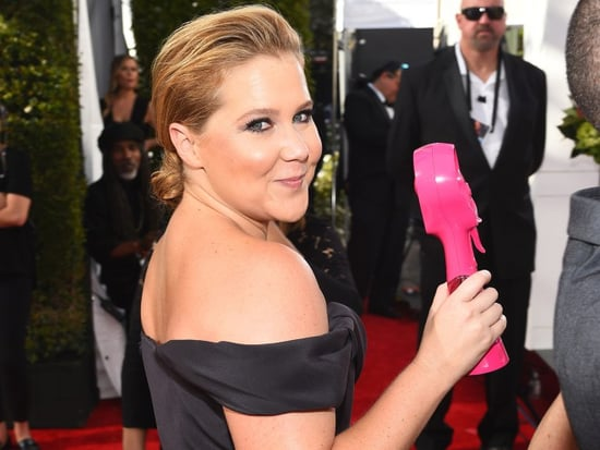 Amy Schumer Wears Vivienne Westwood - and an 'O.B. Tampon!' - to the Emmys, Declares Herself 'Trash from Long Island'