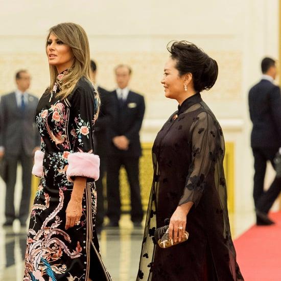 Melania Trump Wearing Gucci Kimono Dress