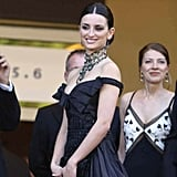 Penelope Cruz hit the red carpet in a dramatic look in 2003.