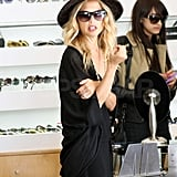 Rachel Zoe browsed sunglasses.