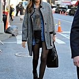Miranda Kerr arrived for the Victoria's Secret Fashion Show rehearsals.