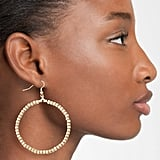 Karine Sultan Ava Beaded Hoop Earrings