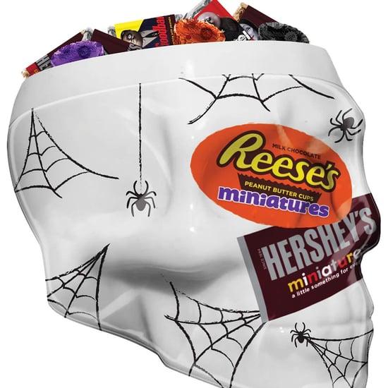 Hershey's Halloween Candy Chocolate Skull Dish