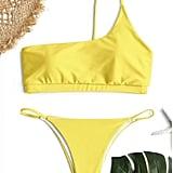 Zaful One Shoulder Bikini Set