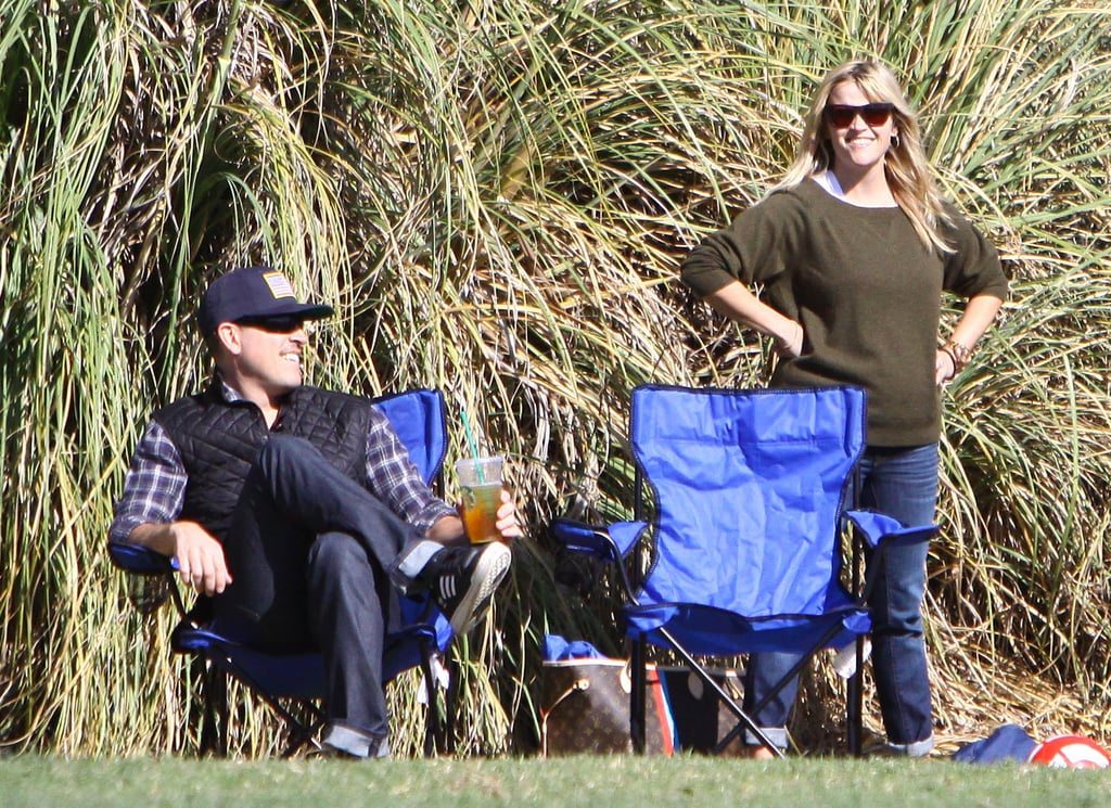 Jim Toth and Reese Witherspoon hung out on the sidelines.