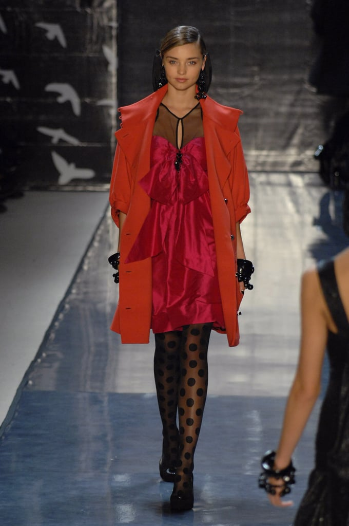 She rocked a fiery red look in the Tracy Reese Fall 2007 collection.