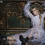 """On feeling starstruck while walking in Dolce & Gabbana's Milan Fashion Week show: """"I got to walk with Monica Bellucci, Carla Bruni, Isabella Rossellini, Helena Christensen, Naomi Campbell — it was insane. We were all standing on the stage, and I was at the back. And when the curtains opened, they were going to shine the spotlight and everyone had to stand in their pose, but I was so busy being in awe of these goddesses, I just stood there staring at everyone. I completely forgot to stand in any way that was photogenic or photographable."""""""