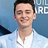 Noah Schnapp's Blue Balmain Suit at the SAG Awards