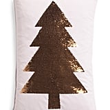 Reversible Sequin Velvet Tree Pillow