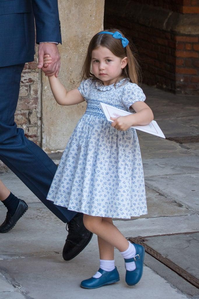 شارلوت خلال مراسم التعميد