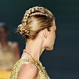 The Reverse French-Braid Bun