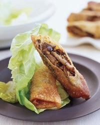 Mushroom Spring Rolls with Creamy Ginger Sauce