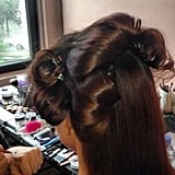 Designer Zac Posen revealed actress Juliette Lewis would be on his arm for the CFDA Fashion Awards and snapped a behind-the-scenes shot of her hair.   Source: Instagram user zac_posen
