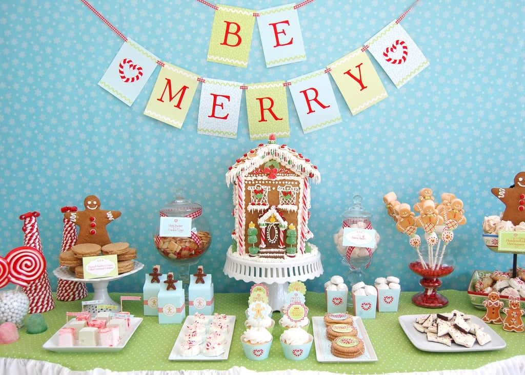 Christmas Cookie Party Ideas Part - 42: Gingerbread Christmas Cookie Dessert Table
