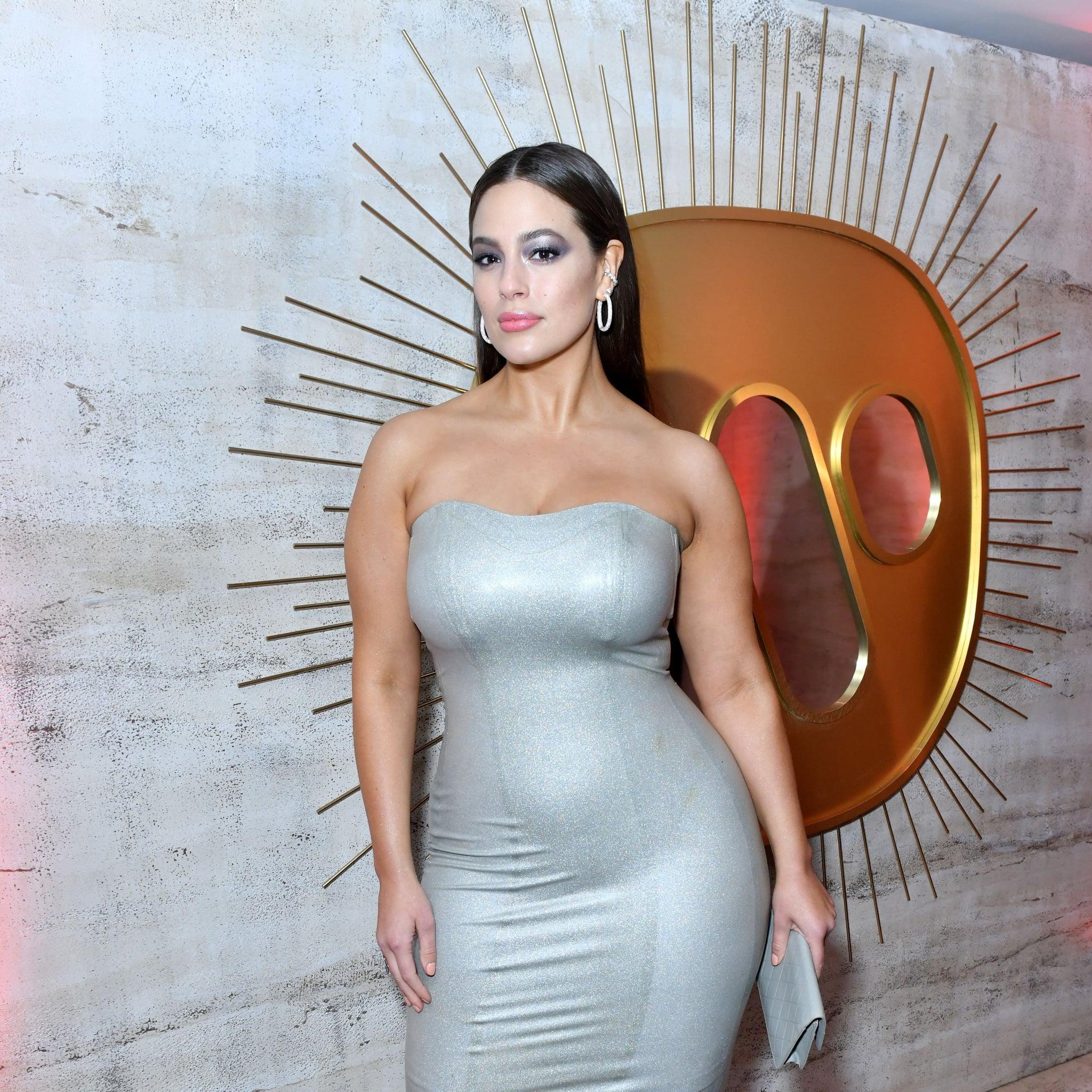 Ashley Graham Wearing Silver Dress | POPSUGAR Fashion