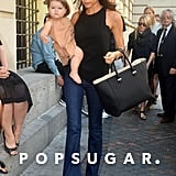 Victoria and Harper Beckham stepped out in NYC.