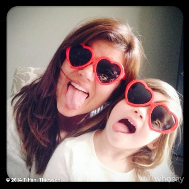 Tiffani Thiessen and Harper Smith had eyes full of love on Valentine's Day morning. Source: Instagram user tathiessen