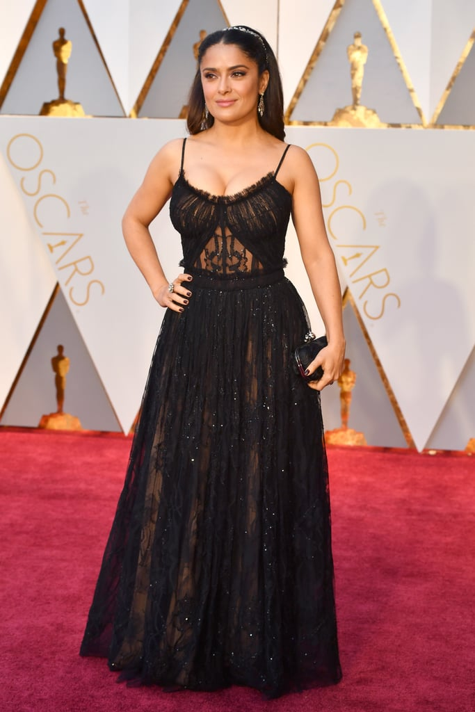 Salma Hayek Alexander McQueen Dress at 2017 Oscars