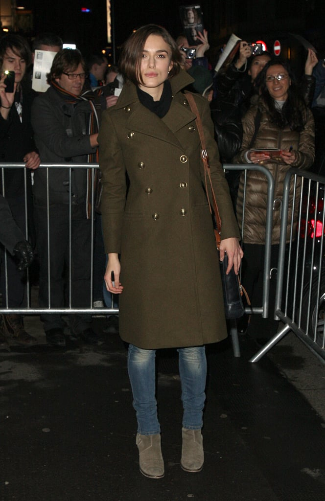 Pictures of Keira Knightley After Performing in The Children's Hour in London