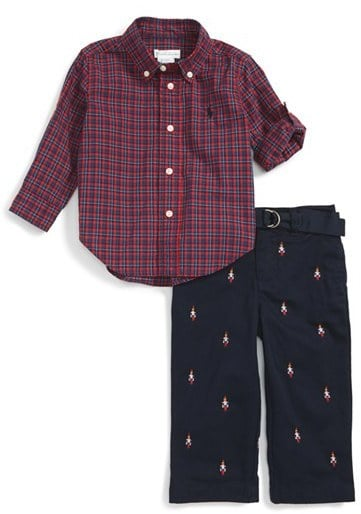 cc222bbda Ralph Lauren Cotton Poplin Shirt   Schiffli Pants