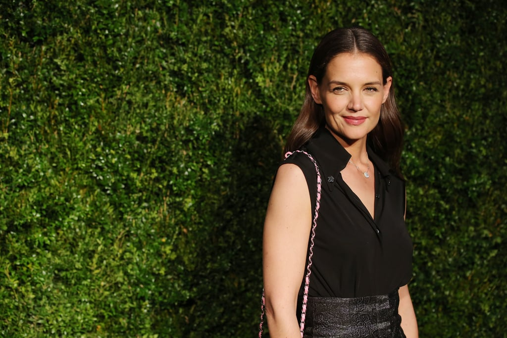 "Just a day after debuting her film All We Had at the Tribeca Film Festival in NYC, Katie Holmes attended Chanel's annual artists dinner at Balthazar on Monday. In addition to looking flawless in an all-black ensemble, the actress met up with former MTV VJ La La Anthony and her husband, NBA star Carmelo Anthony.  Earlier in the day, Katie took to Instagram to wish her daughter, Suri, a happy birthday, writing, ""So grateful for my favorite day of the year!!!!!! Happy birthday to my sweet angel Suri."" Along with the sweet note, she uploaded an abstract picture, which could possibly be one of Suri's drawings based on her previous posts. Keep reading to see more of Katie's night out, and then get a glimpse of her extremely competitive side during a game of Musical Beers with Ryan Reynolds."