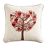 Beaded Tree of Hearts Pillow