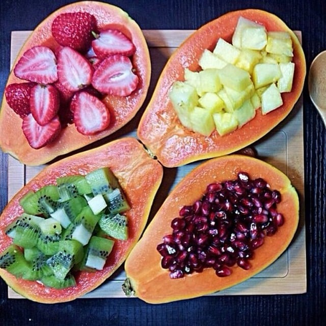 Swap your cheese platter for a fruit platter. Source: Instagram user fltness