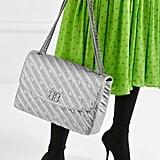 Balenciaga BB Round Large Embroidered Metallic Shoulder Bag