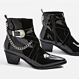 Topshop Move It Western Ankle Boots